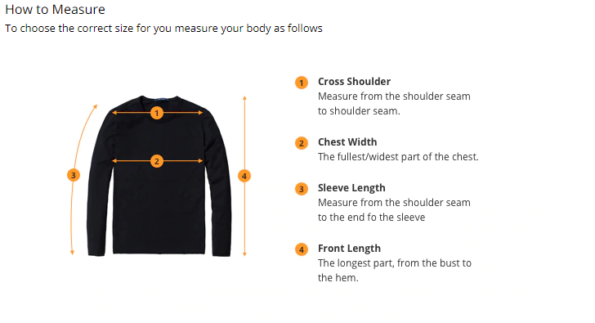 yoga-t-shirt-size-guide